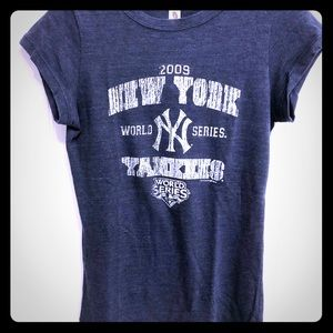 2009 NY Yankees World Series short sleeve T-shirt